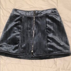 Blue velvet Mini skirt